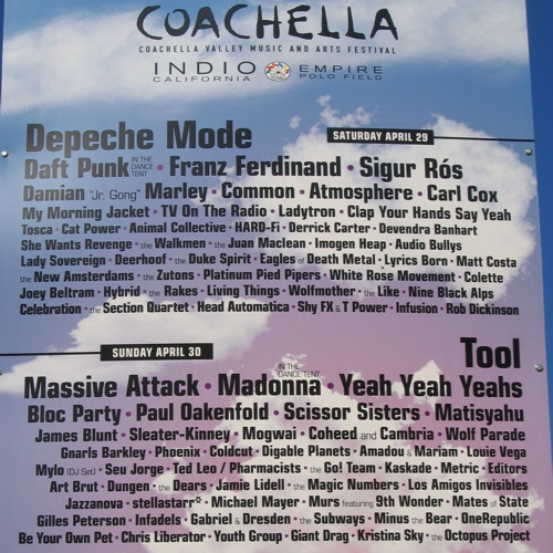 Coachella 2006 Line-up