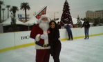 Ice Skating with Santa