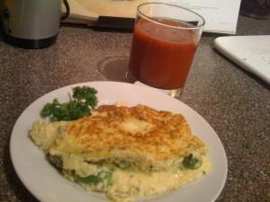 Asparagus & Feta Cheese Omelet