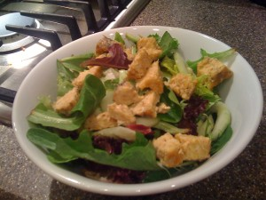 Crispy Tempeh Salad