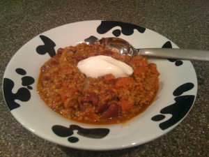 Soy Beef & Bean Chili