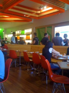 Inside The Veggie Grill