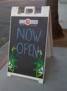 Pizza Fusion in West Hollywood is now open!